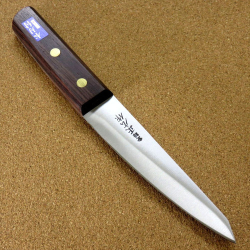 "Japanese Masahiro Kitchen Boning Knife 5.9"" Round Type Carbon Steel SEKI JAPAN"