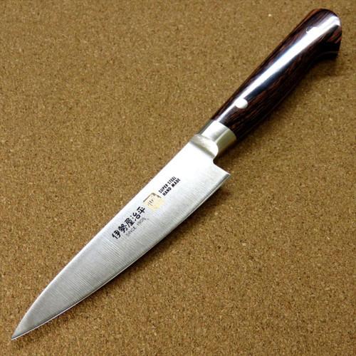 Japanese SETO ISEYA-B Kitchen Utility Knife 4.7 inch Mahogany Bolster SEKI JAPAN