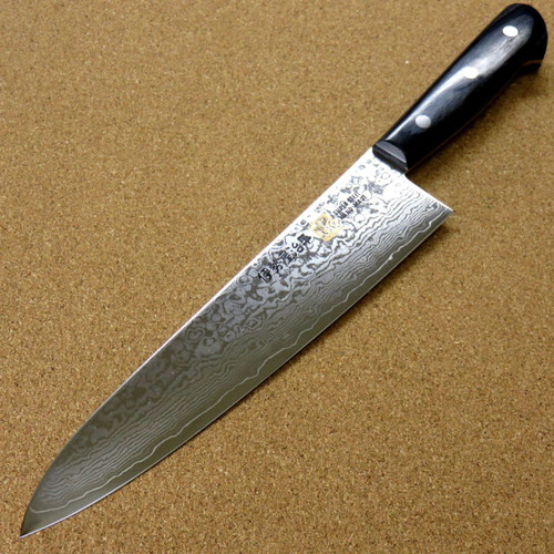 "Japanese SETO ISEYA-G Kitchen Gyuto Chef's Knife 8.3"" VG-10 Damascus SEKI JAPAN"