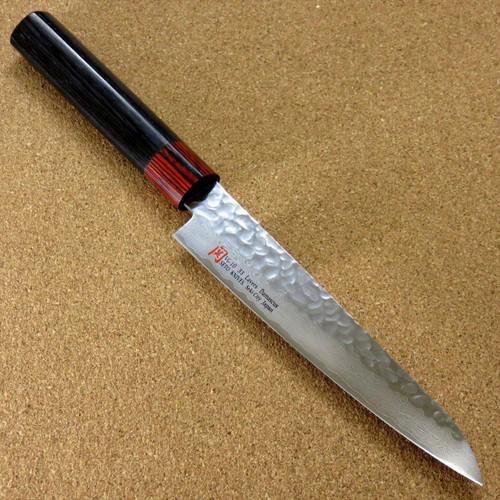 """Japanese SETO ISEYA-I Kitchen Petty Utility Knife 5.9"""" Damascus Hammered JAPAN"""
