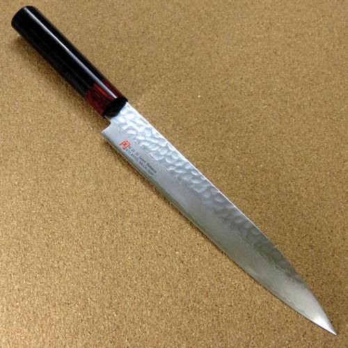 """Japanese SETO ISEYA-I Kitchen Sashimi Knife 8.3"""" Damascus Hammered SEKI JAPAN"""