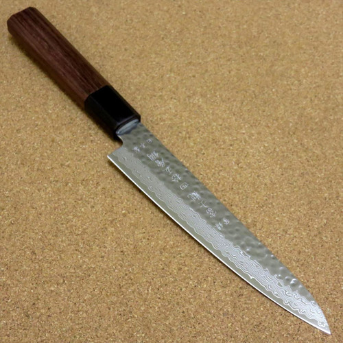 Japanese Kitchen Petty Utility Knife 150mm 5.9 inch Damascus 45 Layer SEKI JAPAN