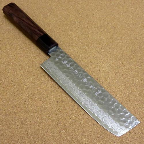Japanese Kitchen Nakiri Vegetable Knife 160mm 6.3 inch Damascus 45 Layers JAPAN