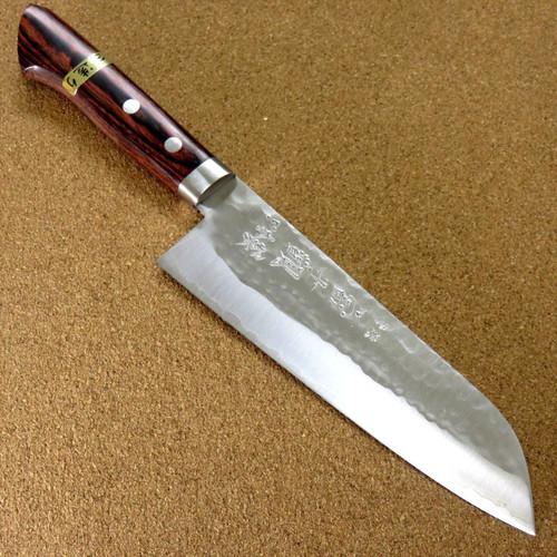 Japanese Kitchen Santoku Knife 170mm 6.7 inch 3 Layers Hammered Bolster JAPAN