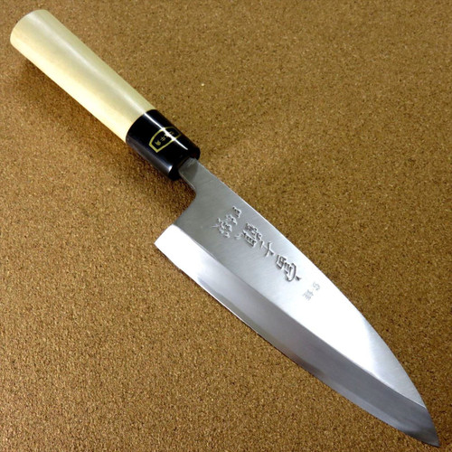 Japanese Kitchen Deba Knife 170mm 6.7 inch White Steel Shirogami #3 SEKI JAPAN