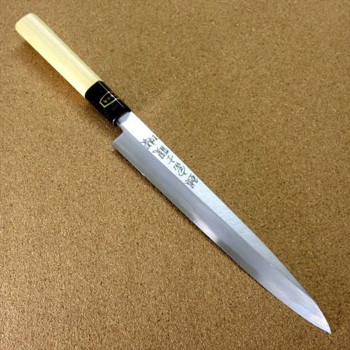 Japanese Kitchen Sashimi Yanagiba Knife 205mm 9.1 inch White Steel 3 SEKI JAPAN