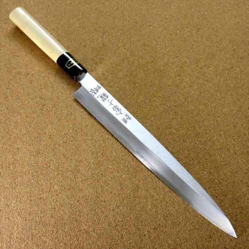 Japanese Kitchen Sashimi Yanagiba Knife 235mm 9.3 inch White Steel 3 SEKI JAPAN