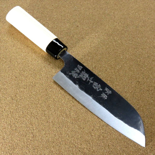 Japanese Kitchen Santoku Knife 160mm 6.3 inch Kuro-Uchi Blue Steel #2 SEKI JAPAN