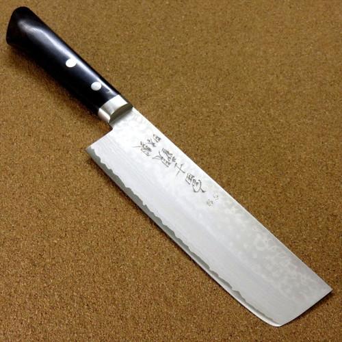 Japanese Kitchen Nakiri Vegetable Knife 165mm VG10 Damascus 17 Layers SEKI JAPAN