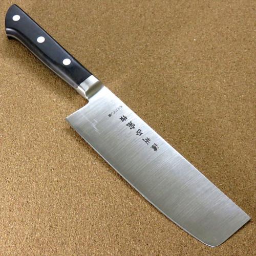 """Japanese Masamune Kitchen Nakiri Vegetable Knife 160mm 6.3"""" Bolster SEKI JAPAN"""