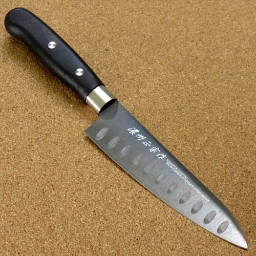 """Japanese Masamune Kitchen Dimple Utility Knife 5.1"""" Titanium Coating SEKI JAPAN"""