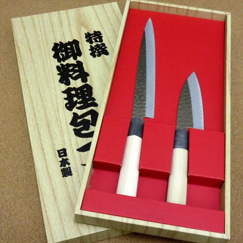 Japanese Yaxell SEKI TOBEI Kitchen Knife 2 pair sets Sashimi & Small Fish JAPAN