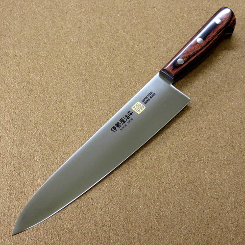 "Japanese SETO ISEYA-E Kitchen Gyuto Chef's Knife 210mm 8.3"" Mahogany SEKI JAPAN"