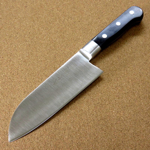 Japanese Kitchen Santoku Knife 155mm 6.1 inch Meat Fish cut Bolster SEKI JAPAN