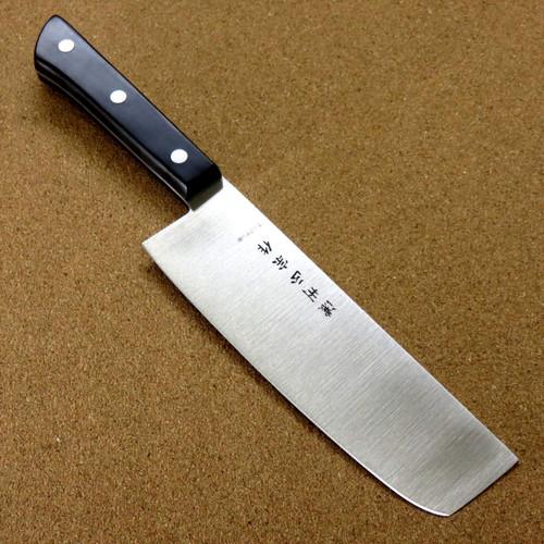 "Japanese Masamune Kitchen Nakiri Vegetable Knife 6.3"" Phenol resin Handle SEKI JAPAN"
