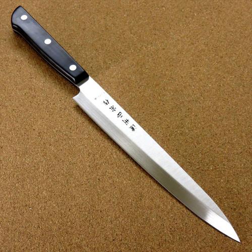 """Japanese Masamune Kitchen Sashimi Yanagiba Knife 8.1"""" Phenol resin Handle SEKI JAPAN"""