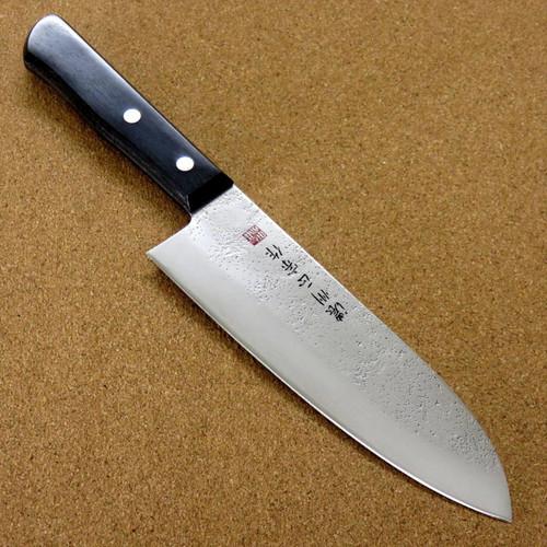 """Japanese Masamune Kitchen Santoku Knife 6.7"""" Nashiji Laminated plywood SEKI JAPAN"""