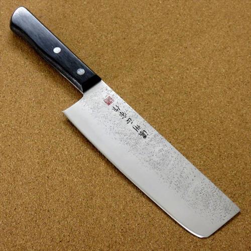 """Japanese Masamune Kitchen Nakiri Knife 6.7"""" Nashiji Laminated plywood SEKI JAPAN"""