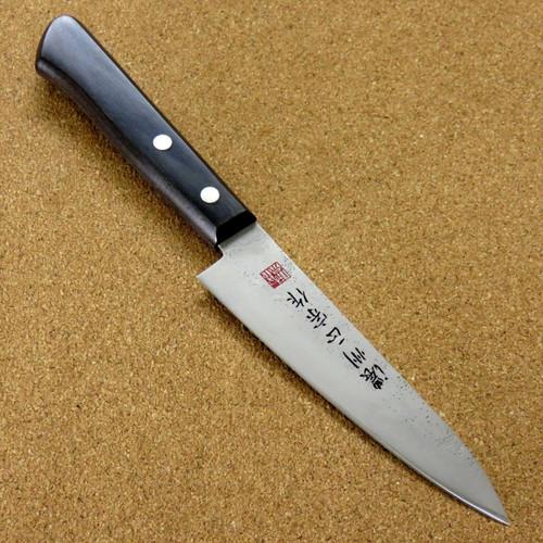 """Japanese Masamune Kitchen Utility Knife 4.7"""" Nashiji Laminated plywood SEKI JAPAN"""