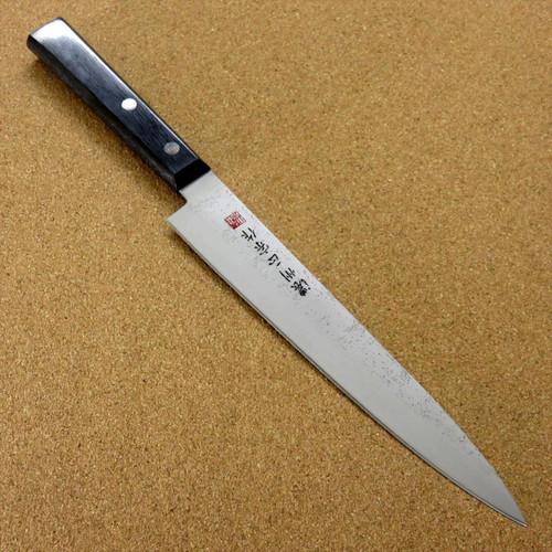 """Japanese Masamune Kitchen Yanagiba Knife 7.9"""" Nashiji Laminated plywood SEKI JAPAN"""