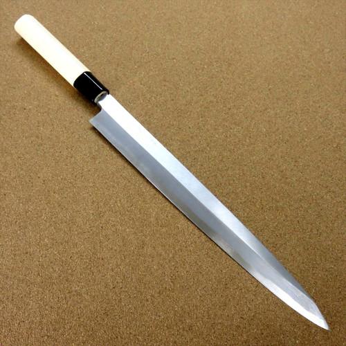 "Japanese Masahiro Kitchen Sashimi Yanagiba Knife 11.8"" Yellow Steel SEKI JAPAN"