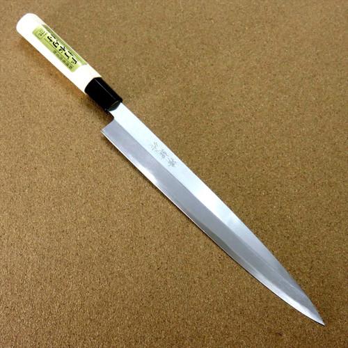 "Japanese Kiyotsuna Kitchen Sashimi Yanagiba Knife 240mm 9.4"" Right handed JAPAN"