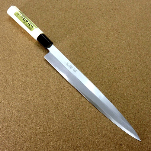 "Japanese Kiyotsuna Kitchen Sashimi Yanagiba Knife 240mm 9.4"" Right handed JAPAN"