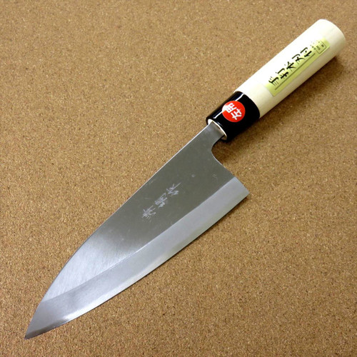 "Japanese Kiyotsuna Kitchen Deba Knife 165mm 6.5"" Single edged Left handed JAPAN"