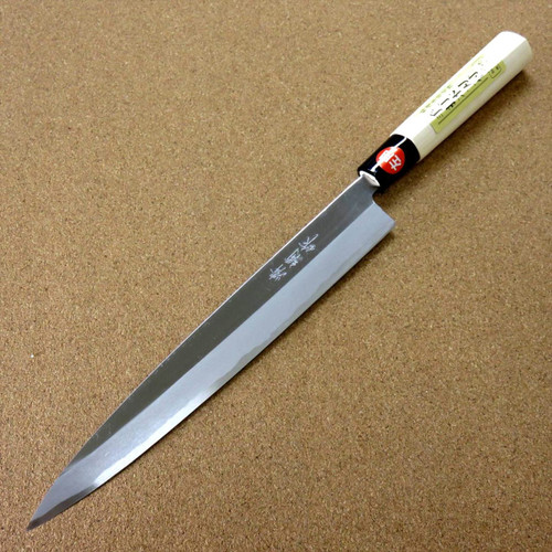"Japanese Kiyotsuna Kitchen Sashimi Yanagiba Knife 240mm 9.4"" Left handed JAPAN"