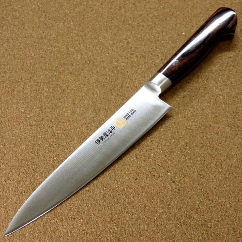Japanese SETO ISEYA-B Kitchen Utility Knife 5.9 inch Mahogany Bolster SEKI JAPAN