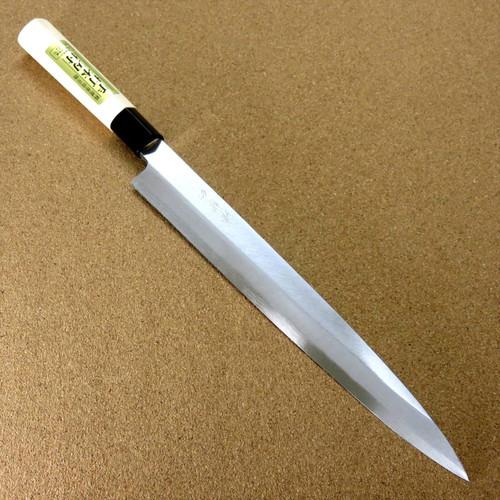 "Japanese Kiyotsuna Kitchen Sashimi Yanagiba Knife 270mm 10.6"" Right handed JAPAN"