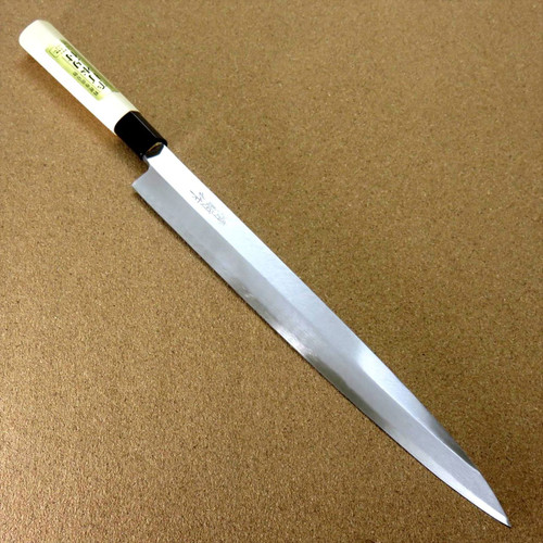 "Japanese Kiyotsuna Kitchen Sashimi Yanagiba Knife 300mm 11.8"" Right handed JAPAN"