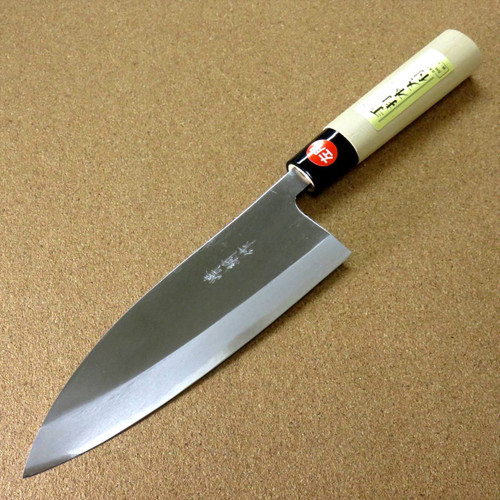 "Japanese Kiyotsuna Kitchen Deba Knife 180mm 7.1"" Single edged Left handed JAPAN"