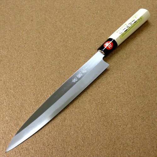 "Japanese Kiyotsuna Kitchen Sashimi Yanagiba Knife 210mm 8.3"" Left handed JAPAN"