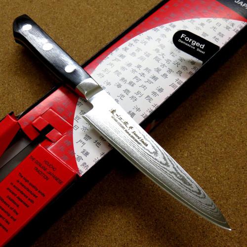Japanese Masamune Kitchen Utility Knife 135mm 5 in Damascus 69 Layers SEKI JAPAN
