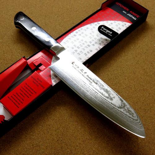 Japanese Masamune Kitchen Santoku Knife 180mm 7 inch Damascus 69 Layers JAPAN