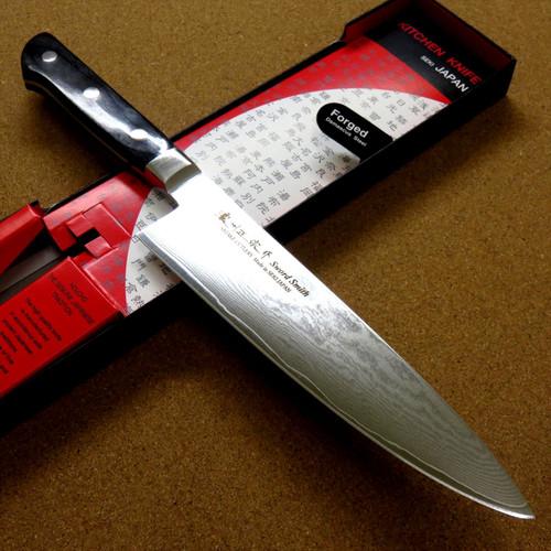 Japanese Masamune Kitchen Chef's Knife 200mm 8 in Damascus 69 Layers SEKI JAPAN