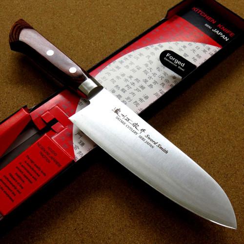 Japanese Masamune Kitchen Santoku Knife 170mm 7 in Warikomi 3 Layers SEKI JAPAN