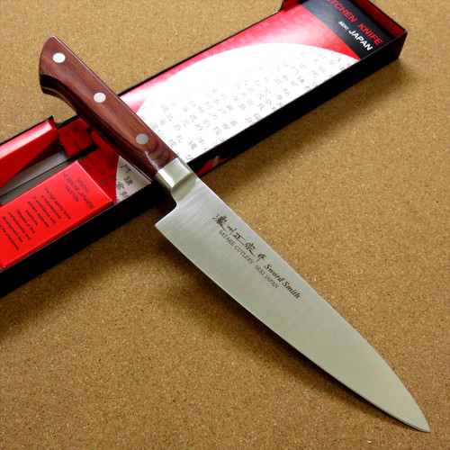 Japanese Masamune Kitchen Chef's Knife 180mm 7 inch Brown Plywood SEKI JAPAN