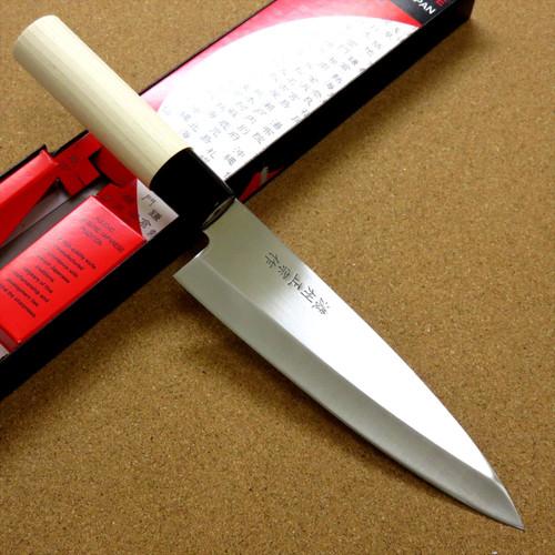 Japanese Masamune Kitchen Chef's Knife 170mm 7 in Natural Wood Handle SEKI JAPAN