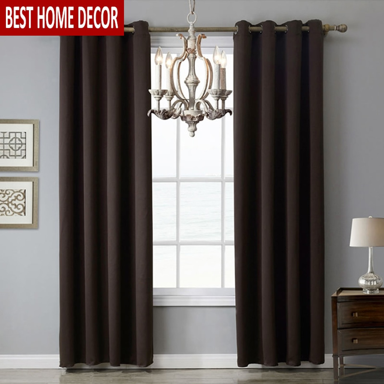 1 Piece Modern Blackout Curtains For Window 6 Colors 8 Sizes