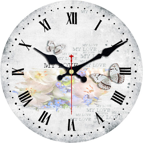 Vintage Butterfly Clock Decor 30-34-40cm