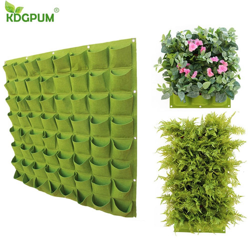 Wall Hanging Vertical Garden Grow Bag Planter 4/9/18/49/72 Pockets