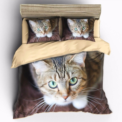 HD Cute Cat 3D Quilt/Doona Cover Set, multiple sizes