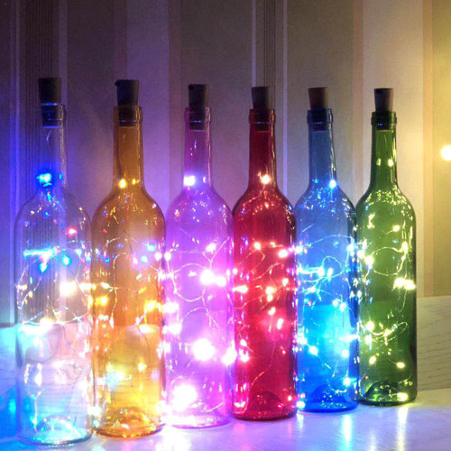 1-2m Solar Cork Led String Light for Bottles, 10-20 Led lights