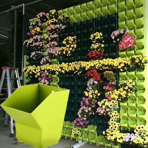 1-12pcs Vertical Wall Hanging Stackable Self Watering Planter