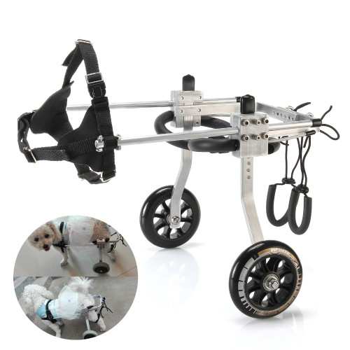 Aluminum Cart Pet/Dog Wheelchair For Handicapped Dog S/M/L