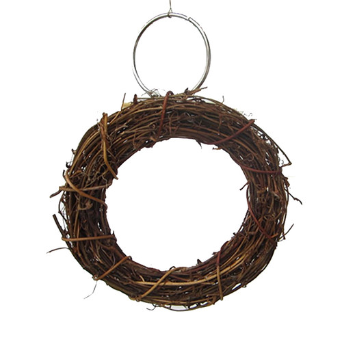Natural Woven Wood Hanging Bird Swing Toy 10-15cm