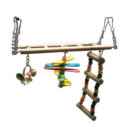 Bird/Rat Wooden Bridge & Ladder Interactive Toy