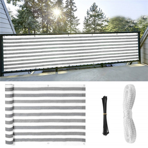 Retractable 5m Balcony Sun Shade Privacy Awning Fence Screen anti UV